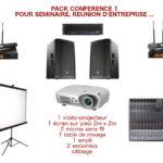 Prestation et location pour conférence, réunion d'entreprise avec vidéo-projecteur